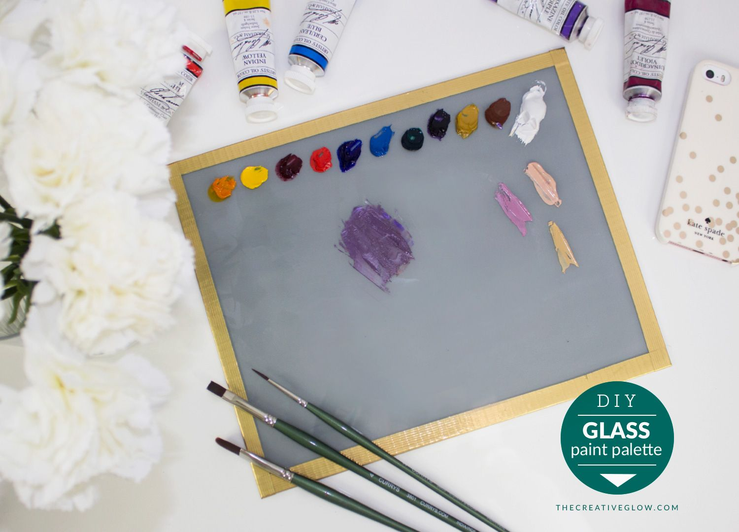 Diy Glass Paint Palette Cheap Easy As Heck The Creative Glow