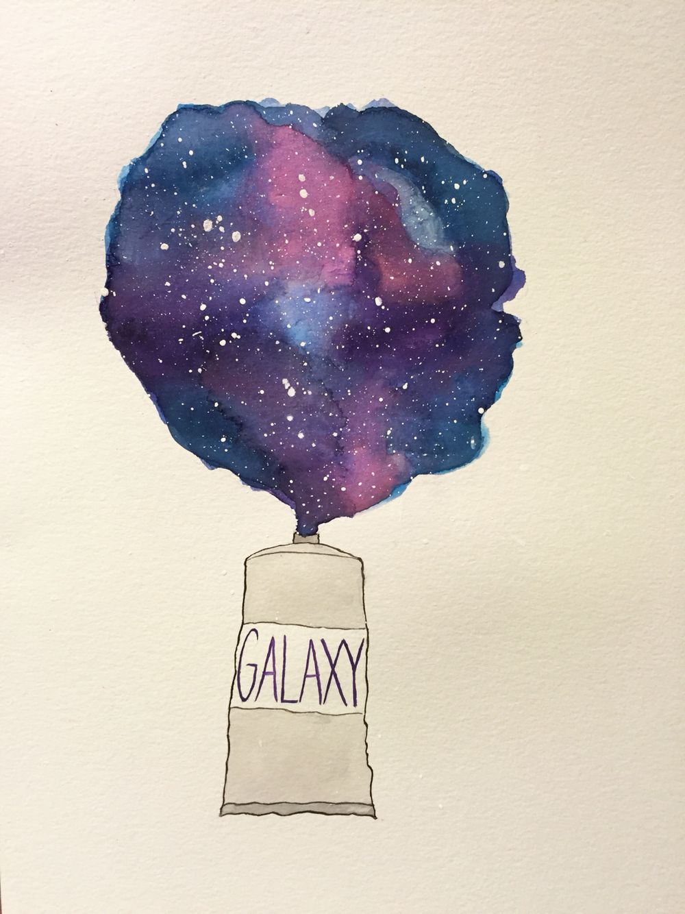 Galaxy watercolor pinteres for Watercolor drawing ideas