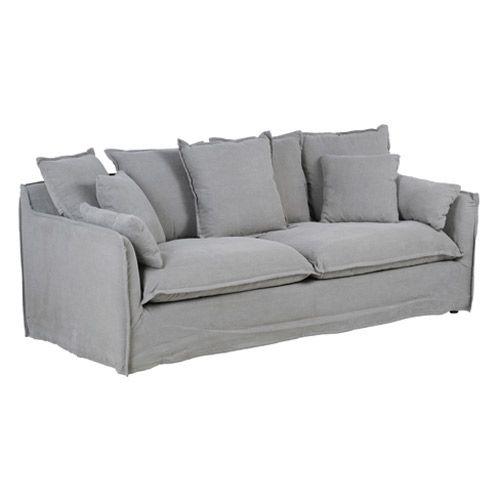 canap en tissu lin d houssable 3 places cosy hanjel gris dans ma maison pinterest. Black Bedroom Furniture Sets. Home Design Ideas