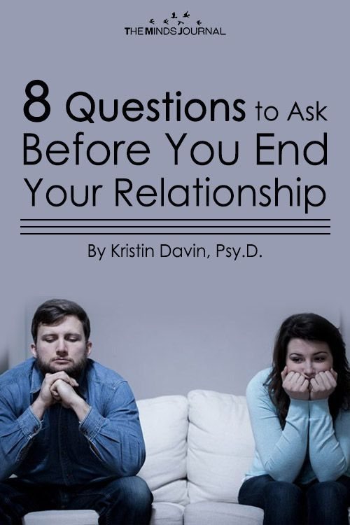 8 Questions to Ask Before You End Your Relationship #divorce