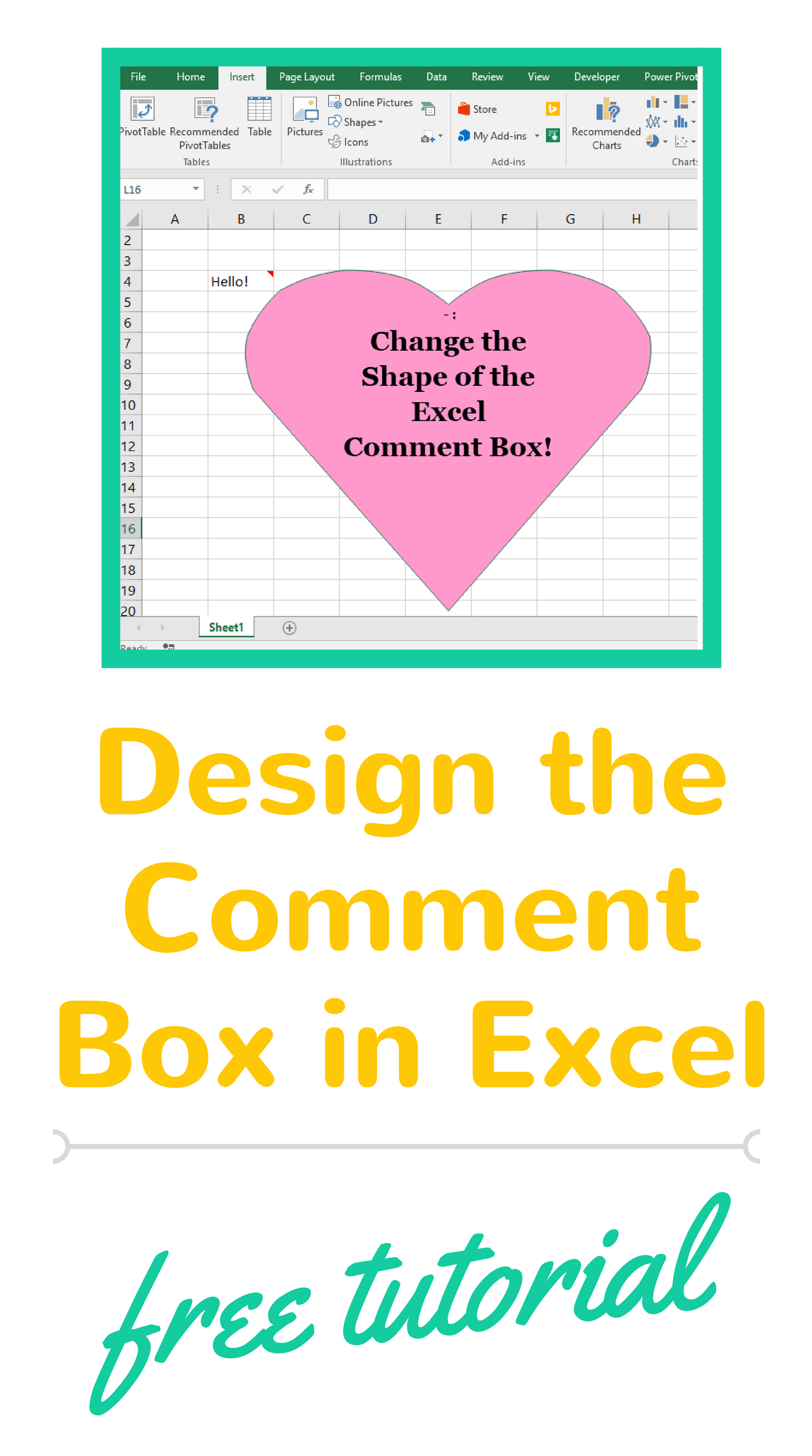 Excel Tutorial On How To Design The Comment Box In Excel