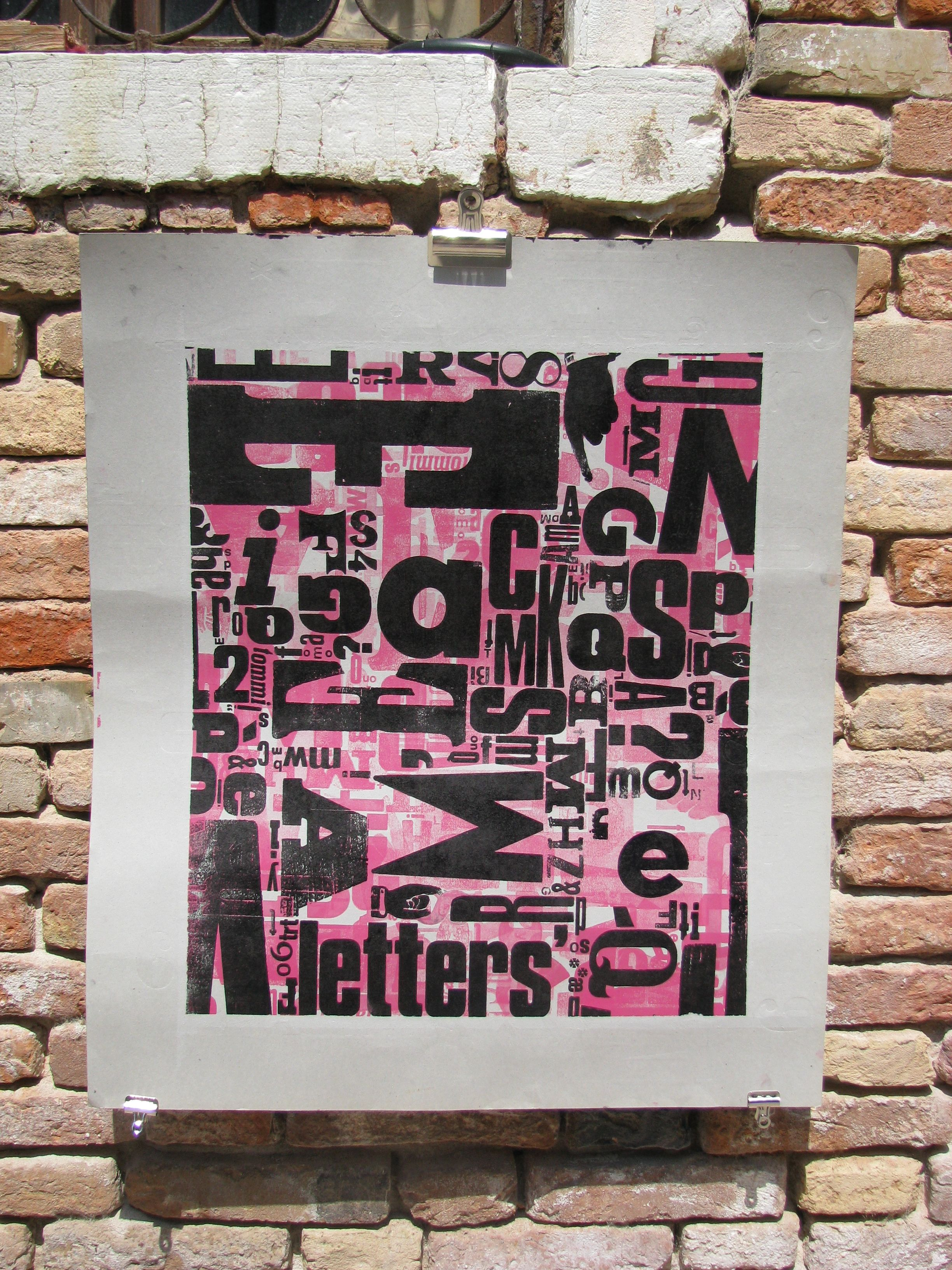 Horror Vacui Letterpress Poster By Cabaret Typographie Cabarettypographietumblr Wood TypesCabaretTypography LettersHorror TypographyTypes