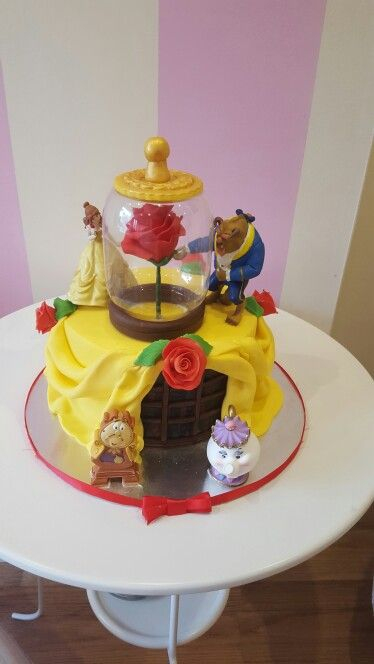 Beauty and the beast themed cake Marleighs birthday ideas