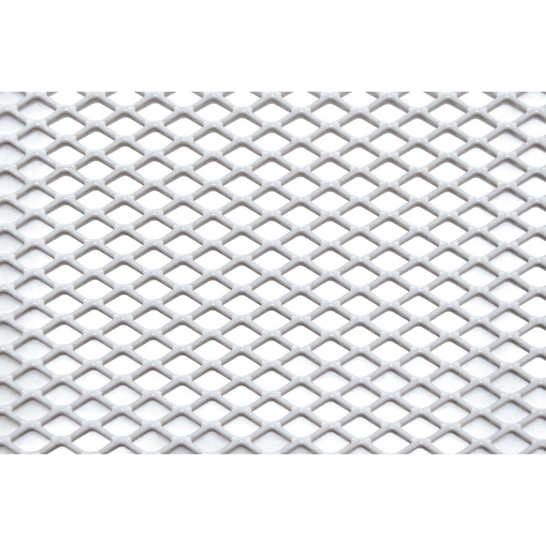 Tôle Aluminium Perforé époxy Blanc L60 X L100 Cm Ep16 Mm