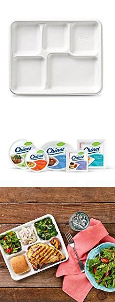 Disposable Compartment Plates. Chinet Classic 5-Compartment Fiber ReCountangular Tray White 15 Count (Pack of 12). #disposable #compartment #plates ...  sc 1 st  Pinterest & Disposable Compartment Plates. Chinet Classic 5-Compartment Fiber ...