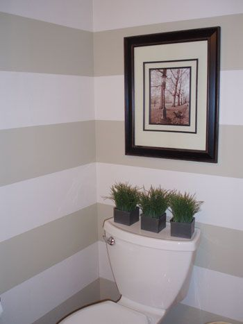 Reader Redesign Row Your Walls Striped Bathroom