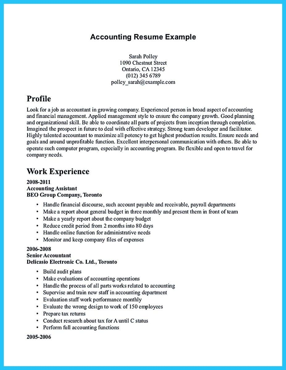 Senior Accountant Resume Example Resume Accounting Pdf Medical Resumes Assistant Skills