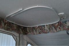 rv ceiling shower curtain track
