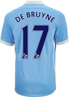 2015 16 Nike Manchester City Kevin de Bruyne Home Jersey. Get yours at  SoccerPro today! 7a23ffaa1