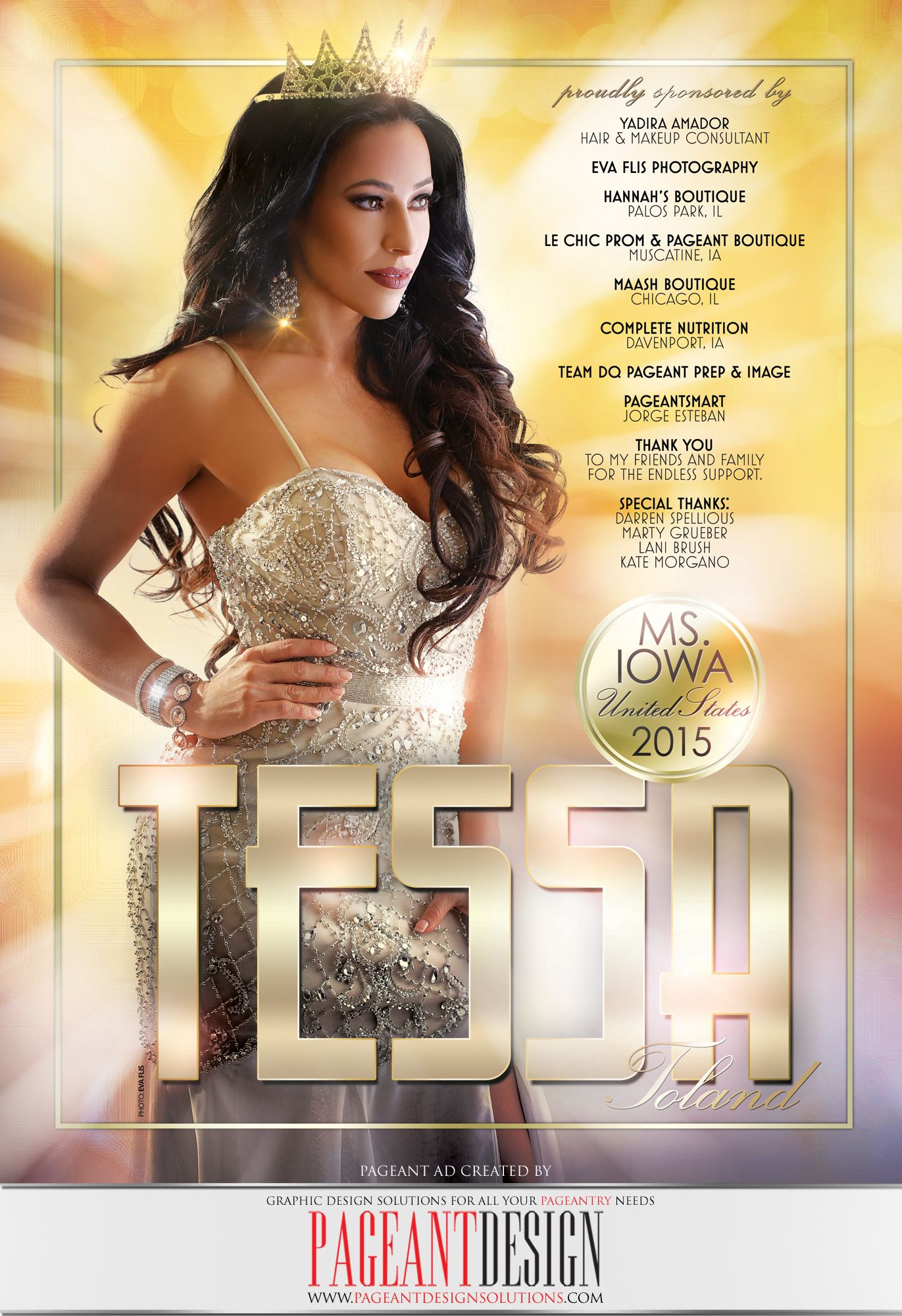 Awesomepageantad Designed For Tessa Toland Ms Iowa United States Get In Touch If You Need An Awesome Looking Pr Pageant Systems Pageant Prep Pageantry