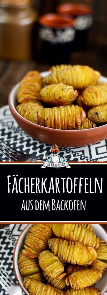 Fächerkartoffeln aus dem Backofen / Hasselback Potatoes #foodporn