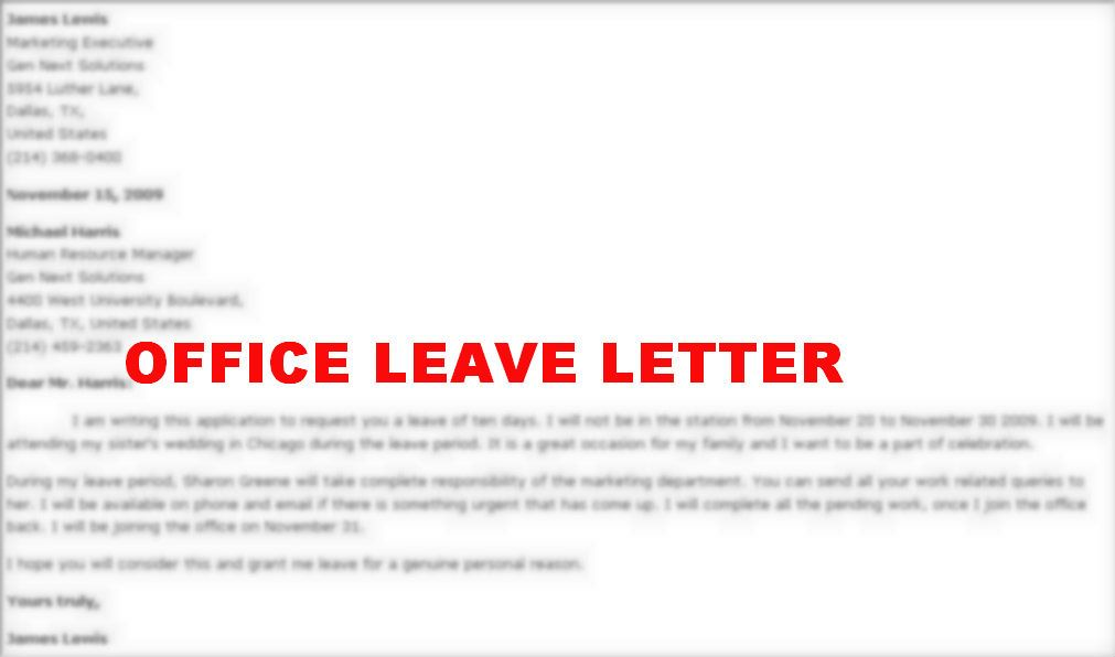 how write leave letter for office maternity related keywords amp - official leave application format