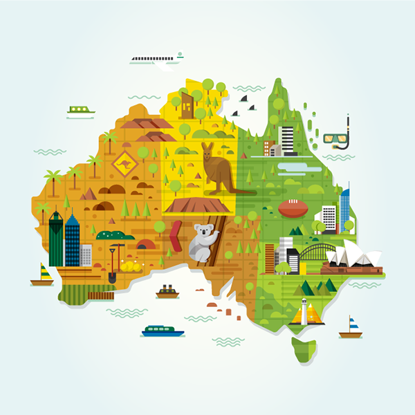 xl bebas liburan campaign by tommy chandra australia map detail