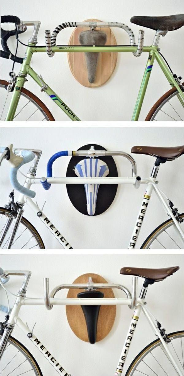 Old Bike Parts Have A New Job Bike Hanger Diy Interior Bike