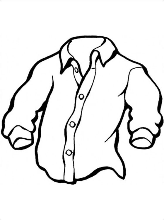 print een kleurplaat overhemd gratis kleurplaten giysi