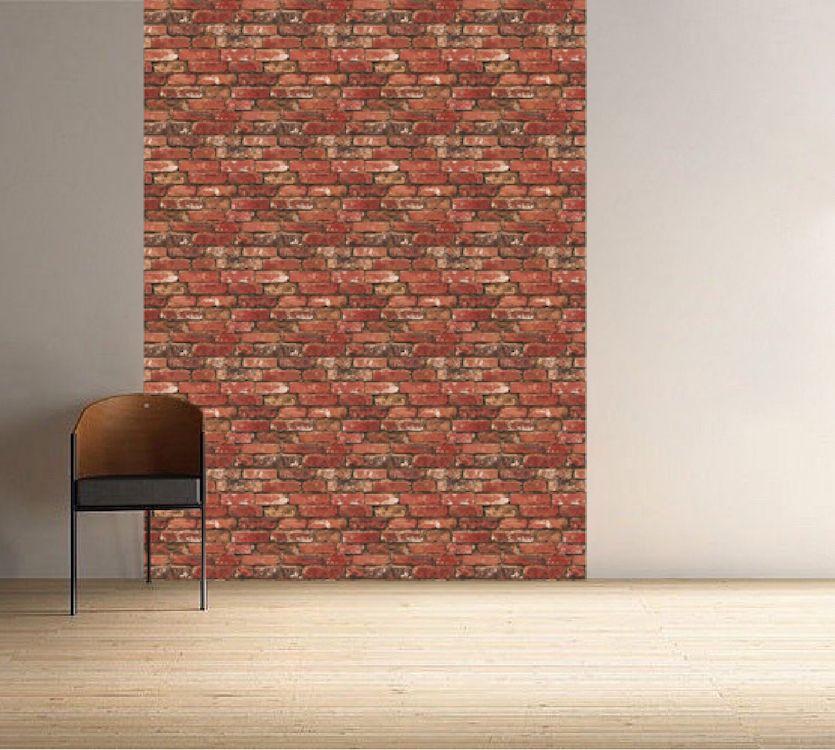 Red Bricks Wallpaper Decal Self Adhesive Brick Removable Mural Primedecals