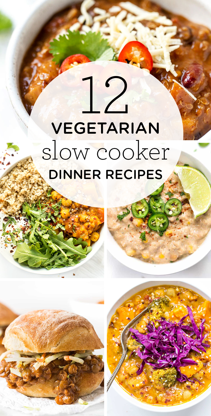 12 Vegetarian Slow Cooker Dinner Recipes images