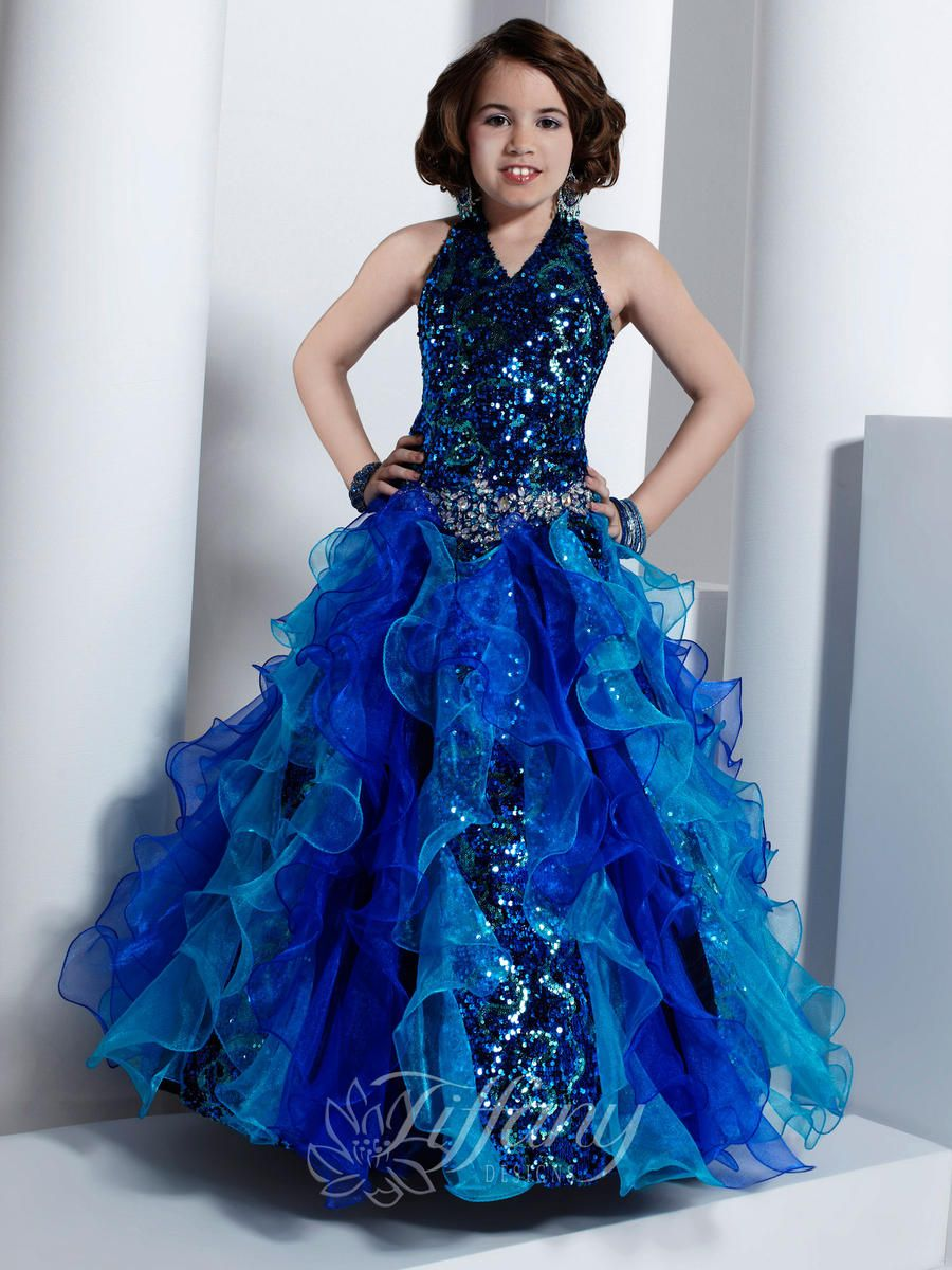 Girls Pageant Dresses by Tiffany 13313 | Pageant Dresses | Pinterest