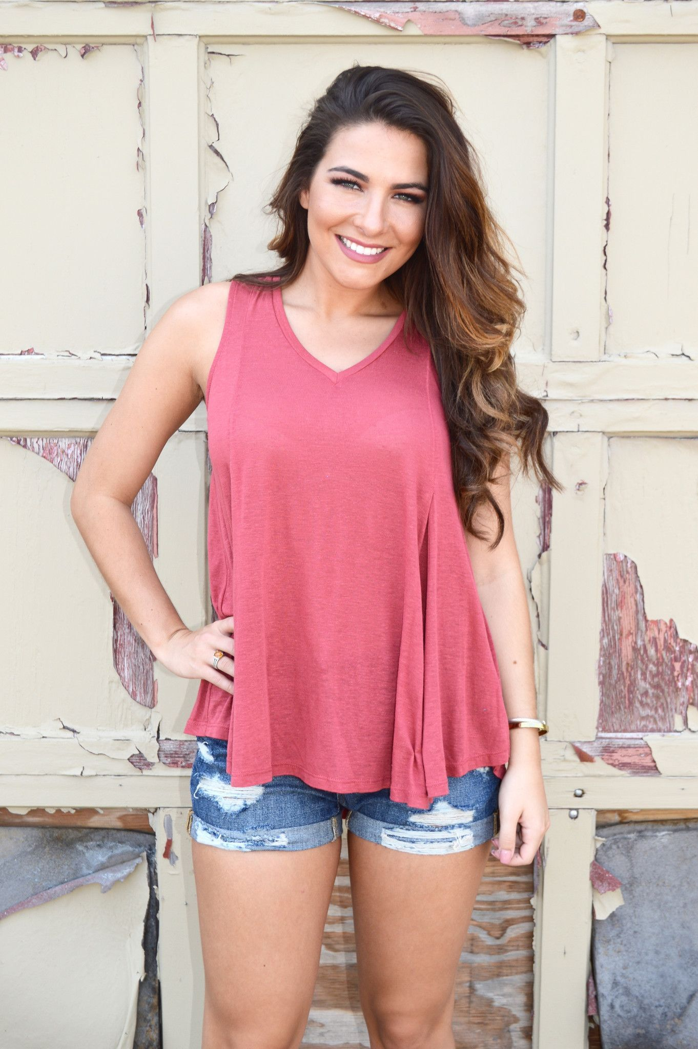 Addilyn V-Neck Tank- Spice from Shop Southern Roots TX