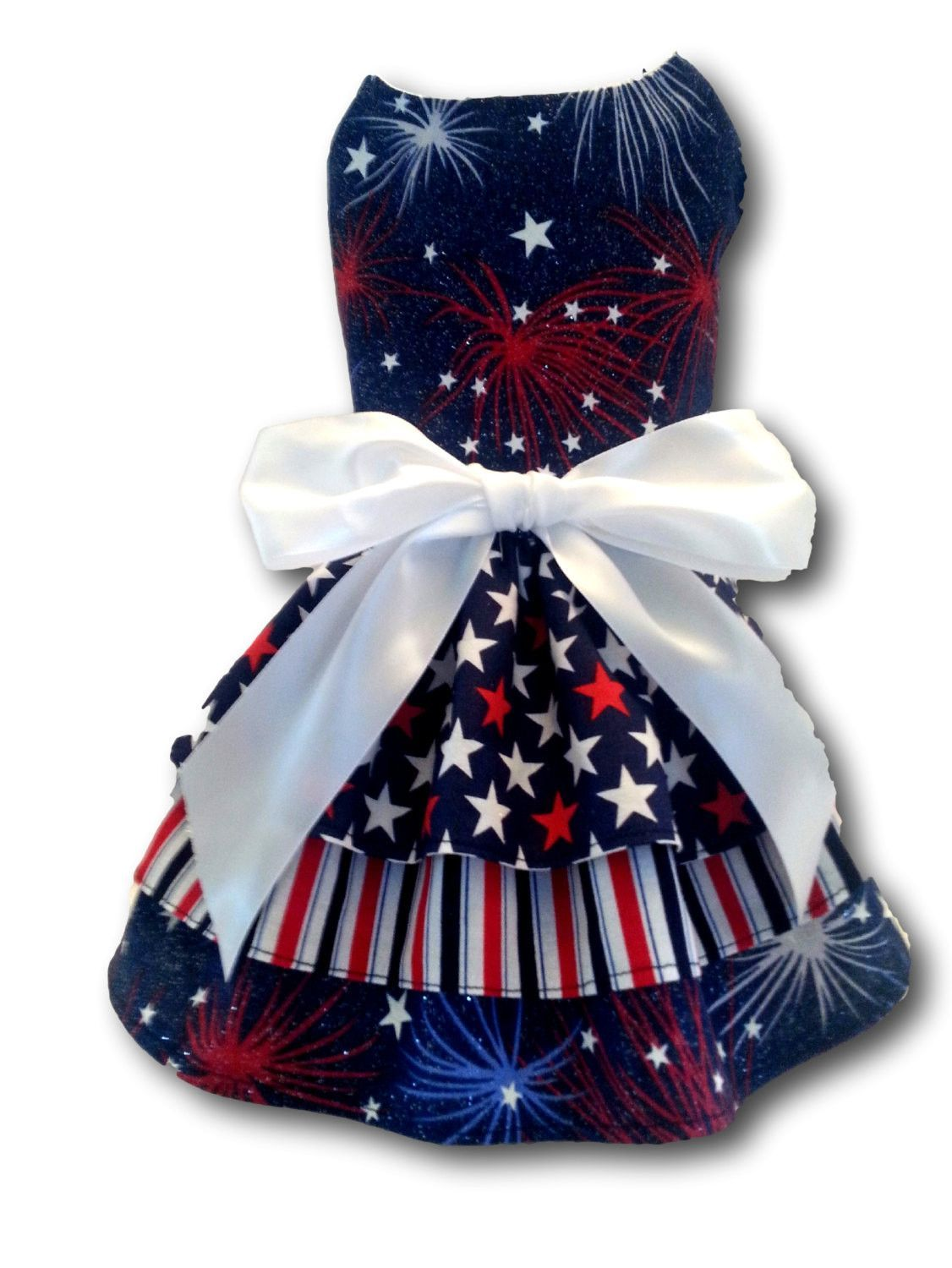 Red, White and Blue Dog Dress