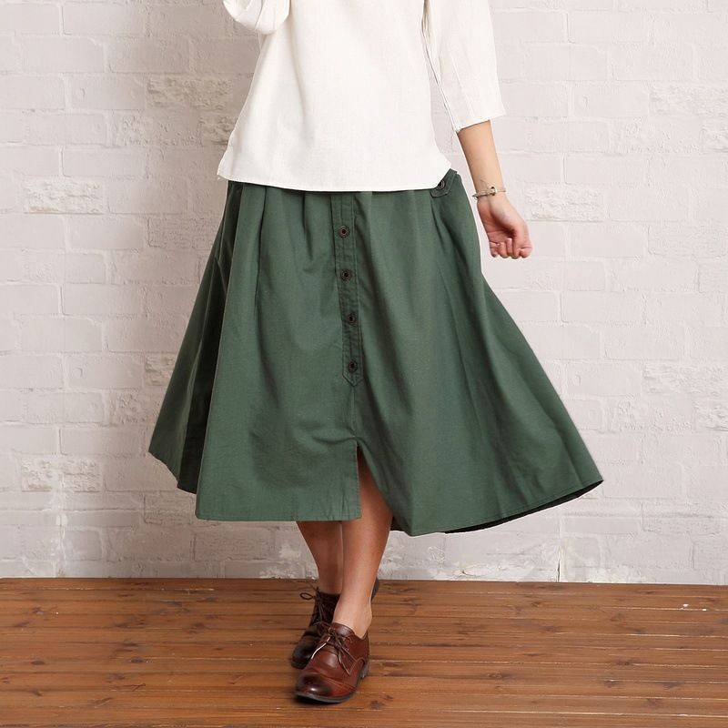 d39e5966cd 2016 Summer Women Maxi Skirt Ladies Linen Loose Solid Vintage Brief Cotton  Long Skirt Fashion Mori