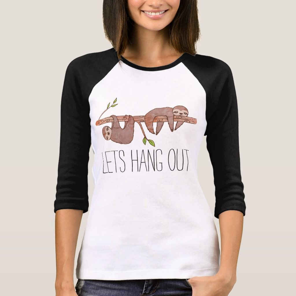 Baby Sloths hanging on Tree T-Shirt | Zazzle.com #babysloth