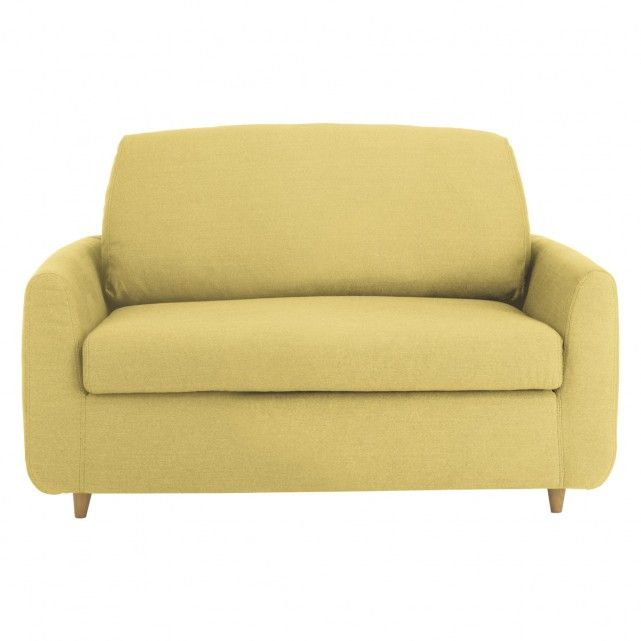 Honovi Saffron Yellow Fabric Compact Sofa Bed Small Sofa Bed Sofa Bed Uk Sofa Bed