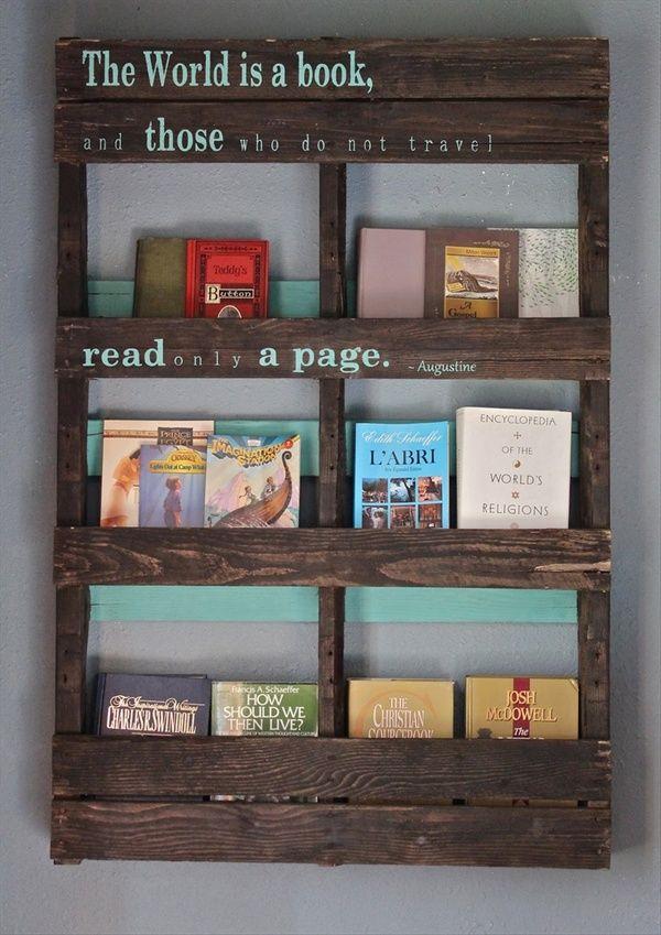 Pallet Bookshelf 19 More