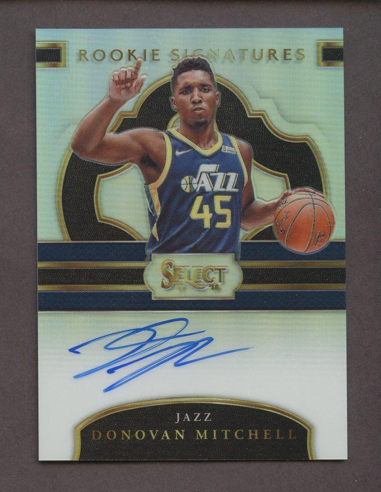 2017-18 Select Signatures Prizm Donovan Mitchell Jazz RC Rookie AUTO  199 8cdd3d751