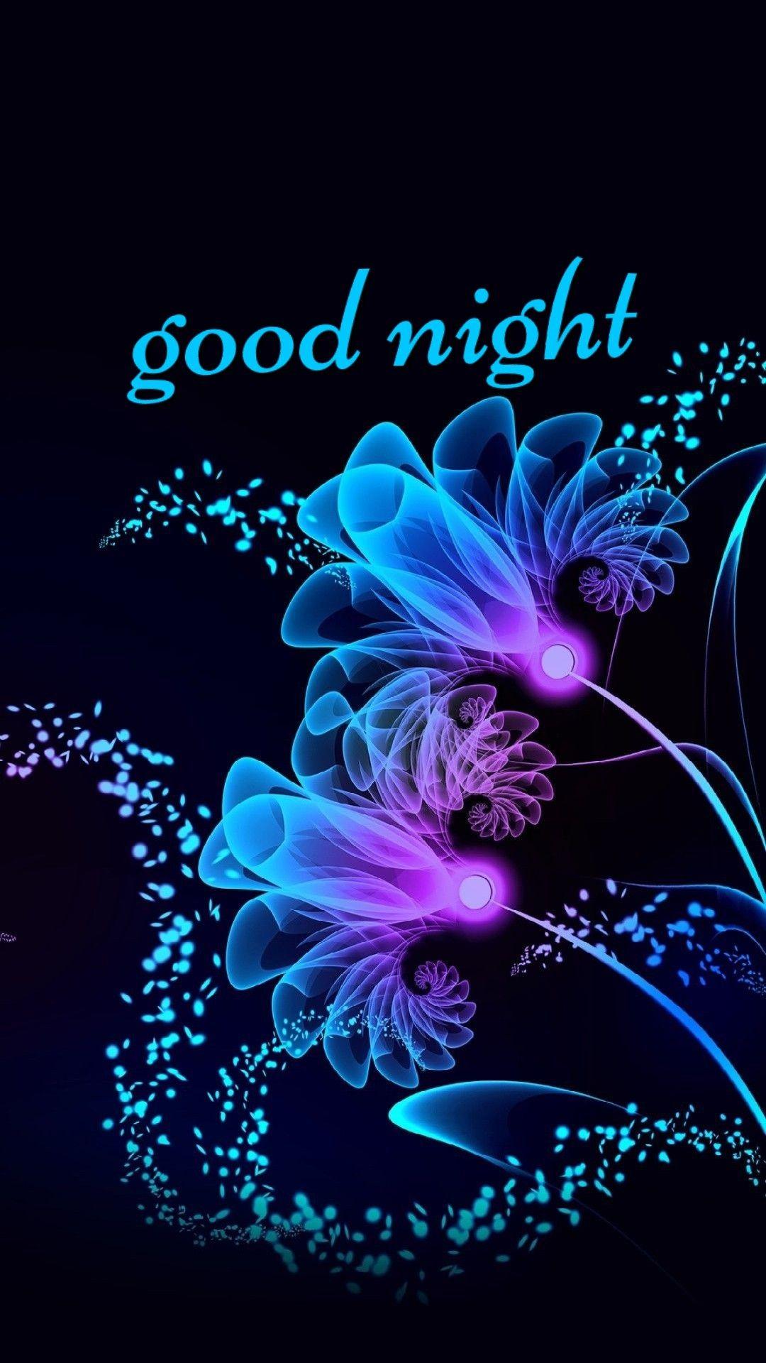 Pin By Marylwhite On Good Night Flower Art Good Night Greetings Good Night Image