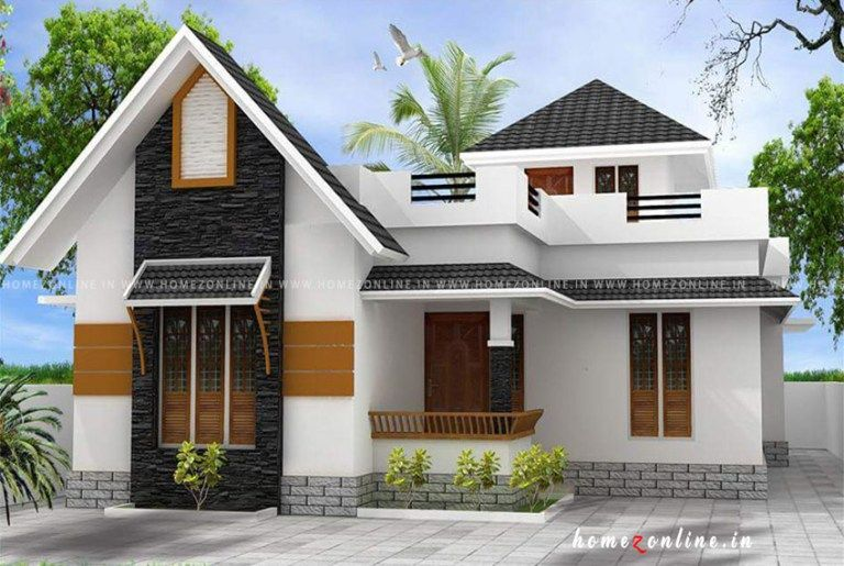 Low Budget House Design On Single Floor Low Budget House Simple House Plans House Design
