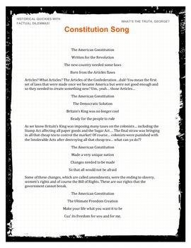 Constitution Song Great For Social Studies Us History Mp3 And Pdf Teaching Constitution Interactive Notebooks Social Studies Social Studies Elementary