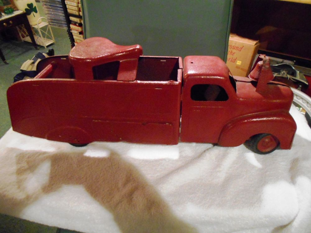 MARX Vintage Steel Toy Ride On FIRE TRUCK Parts or Restoration #Marx ...