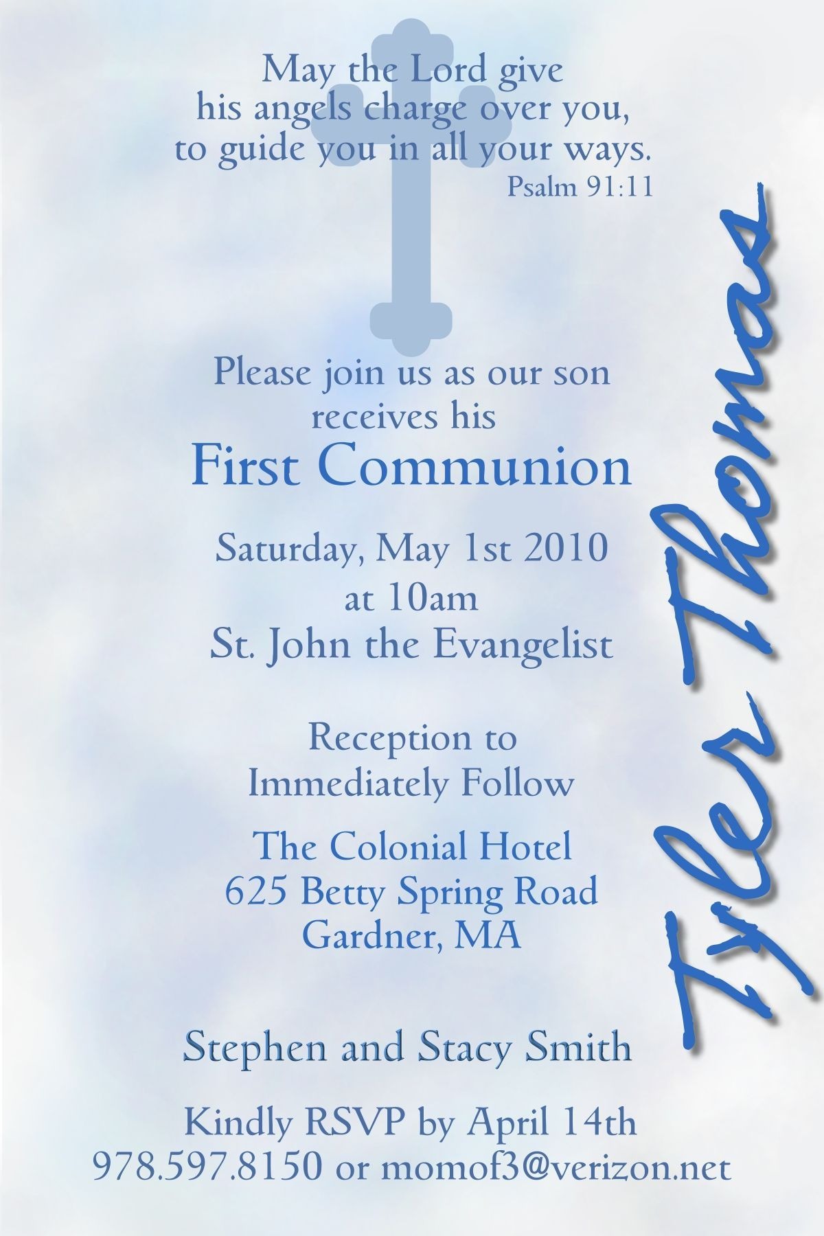 first holy communion quotes for son