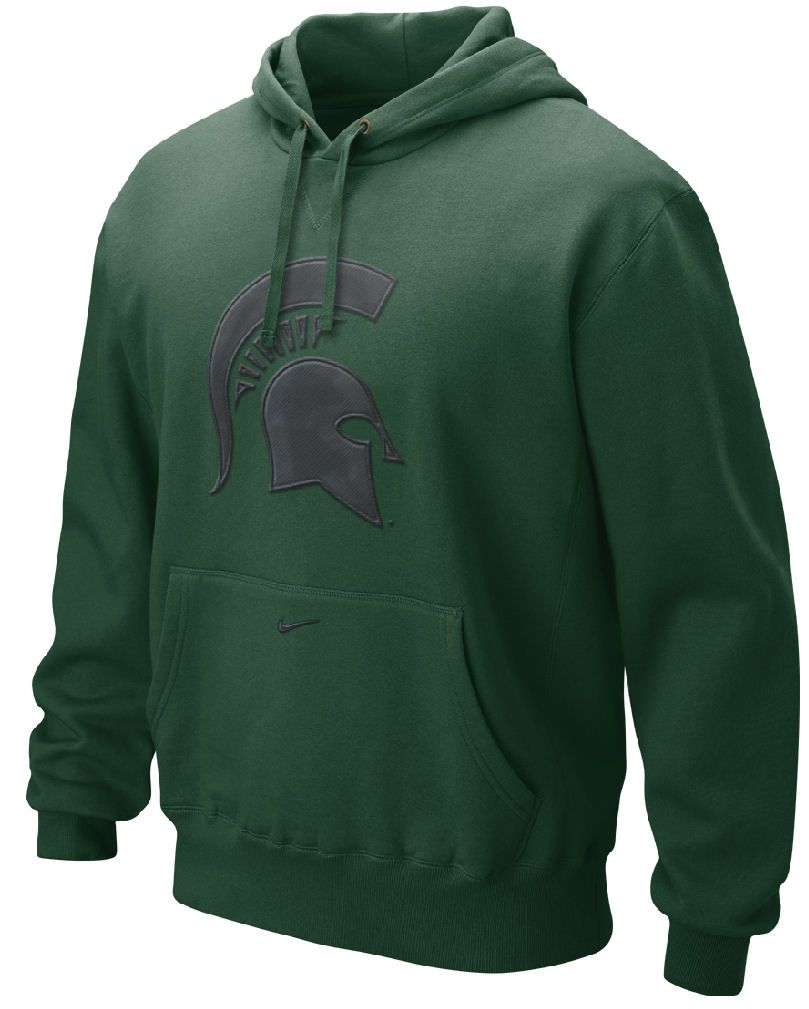 Nike Michigan State Spartans Medium Green Seasonal Logo Tackle Twill Embroidered Hoody Sweatshirt 50 00 Michigan State Spartans Spartans Sweatshirts [ 1009 x 809 Pixel ]