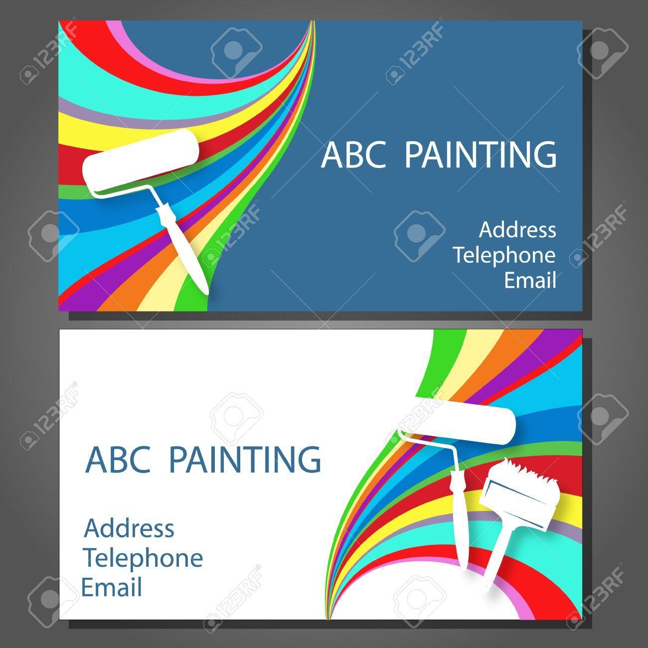Maler Visitenkarten Psd Plus Maler Visitenkarte Proben Auch