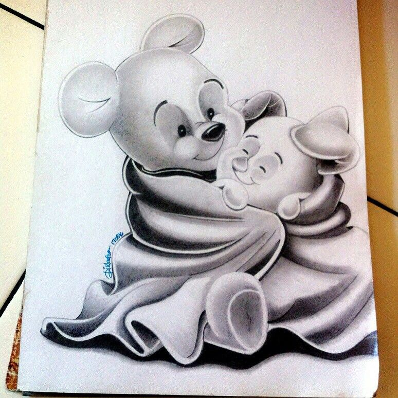 Baby Pooh & Baby Piglet sketch by Key