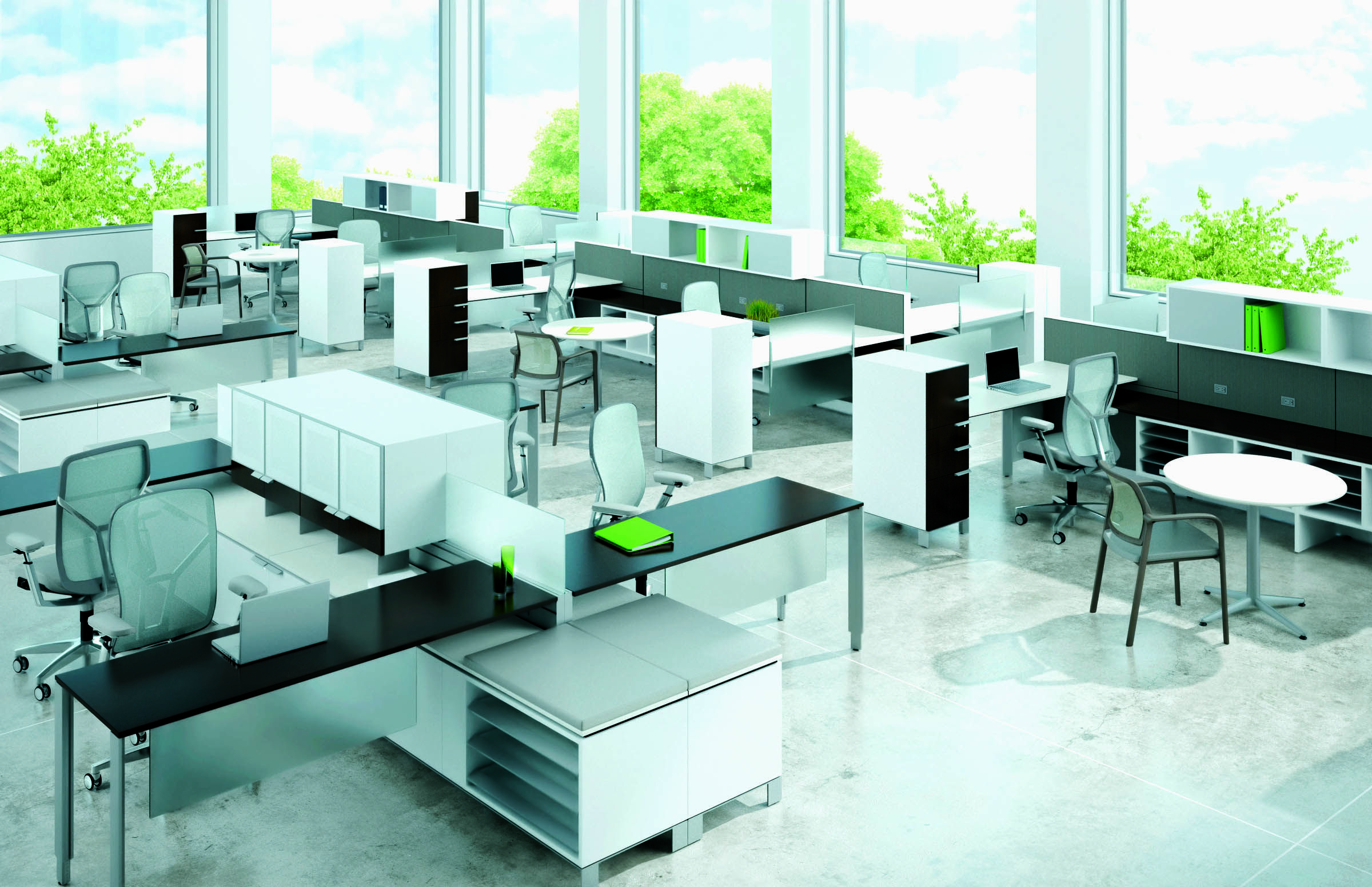 Open office interior design google search design open for Open space office