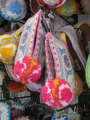 Traditional Greek Slippers. I bought a pair in Athens, Greece and I REALLY want to buy more!
