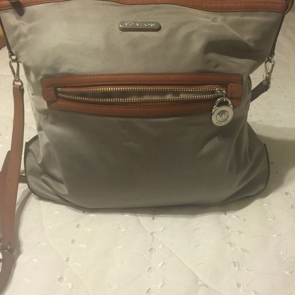 b39b548fd541 Satin original MK purse Gray