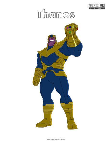 Thanos Free Superhero Coloring Page   Super herói, Super ...