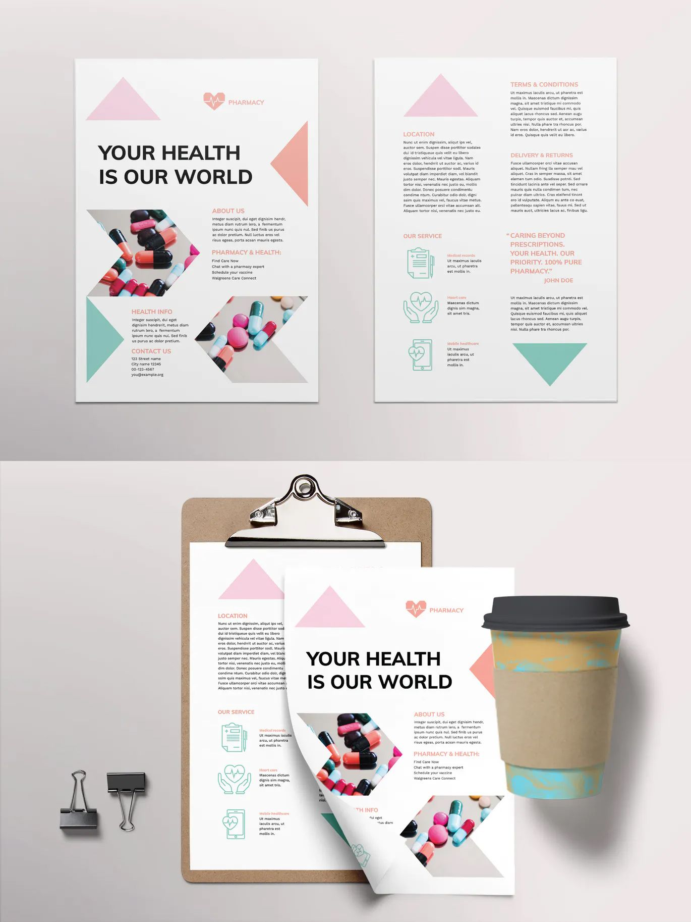 Pharmacy Flyer Template AI, EPS, INDD, PSD Flyer