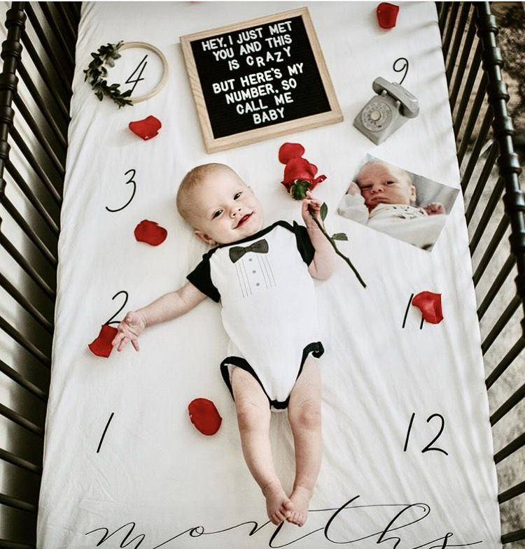 Milestone Crib Sheet Buckets Monthly Baby Photos 6