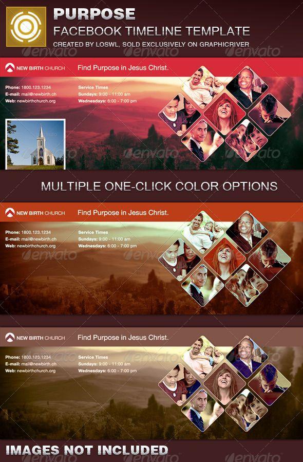 Purpose Church Facebook Timeline Cover Template   Pinterest