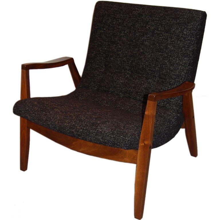 Superb Milo Baughman Scoop Chair
