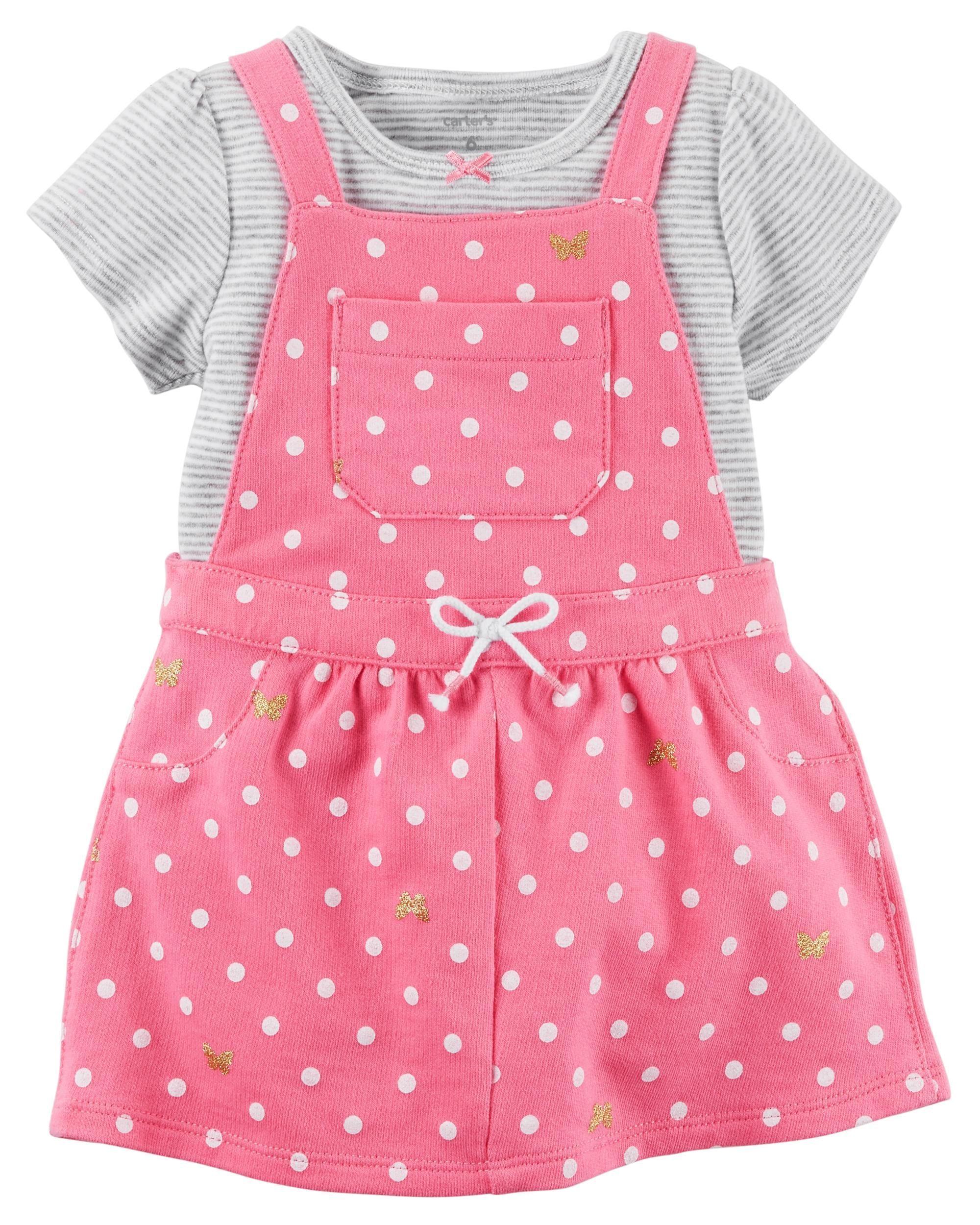 6f545901c 2-Piece Bodysuit & Jumper Set | Clothing | Carters baby girl ...