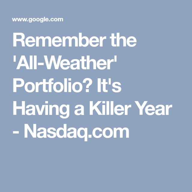Ray dalio all weather portfolio