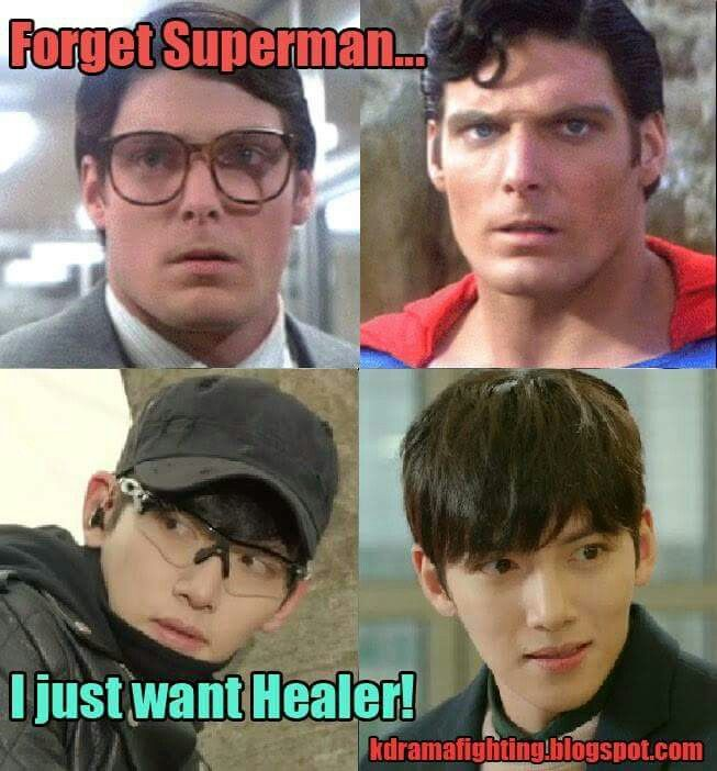 I've never actually been the biggest fan or Superman, I always liked the other superheroes better, but now just give me a Korean hero - you know a city hunter, alien or healer will do...