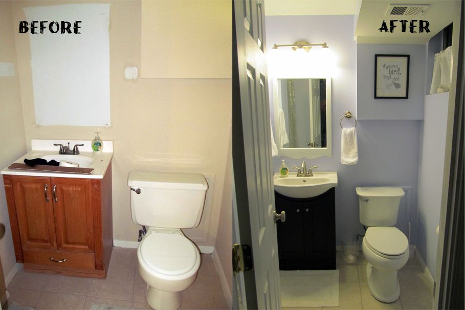 Bathroom Simple Renovation For Small Bathroom Before And After - Mobile home bathroom vanity for small bathroom ideas