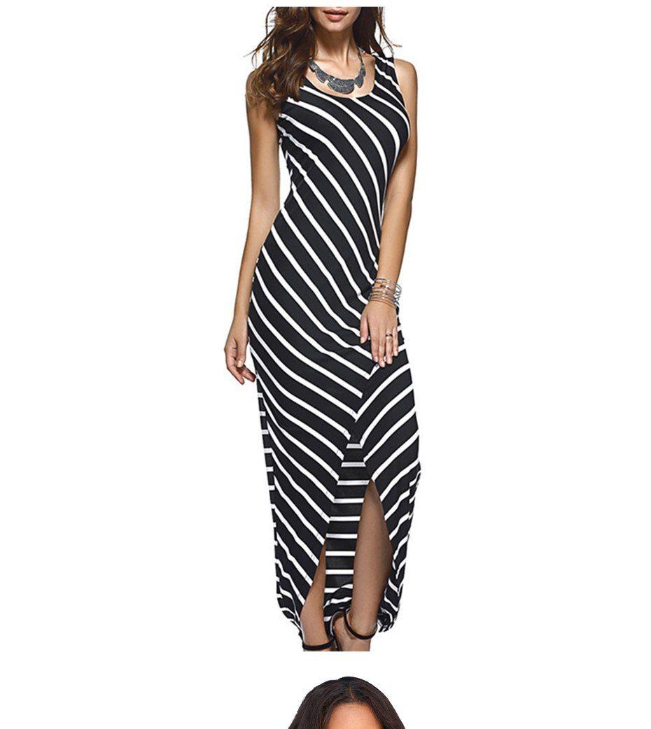 6d103a9c317  30.99 - Nice TIGENA Women Summer Dress 2018 Summer Sundress Female Striped  Long Maxi Dress Tunic